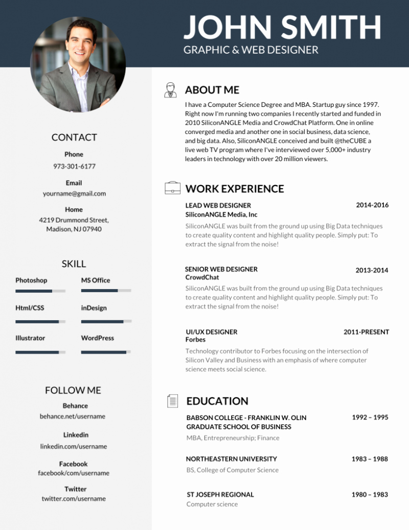 50 Most Professional Editable Resume Templates for