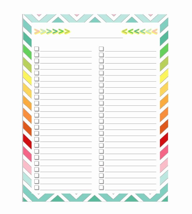 50 Printable to Do List & Checklist Templates Excel Word