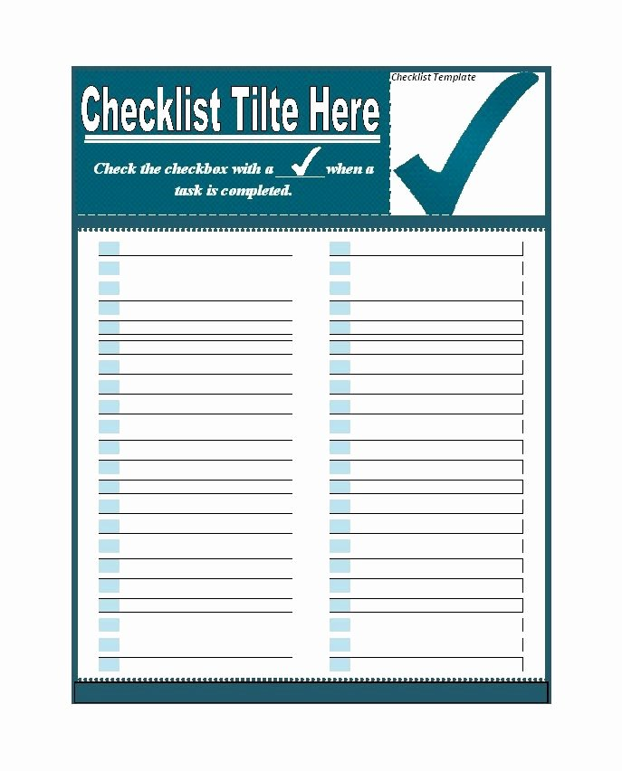 50 Printable to Do List & Checklist Templates Excel