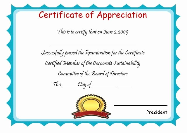 50 Professional Free Certificate Of Appreciation