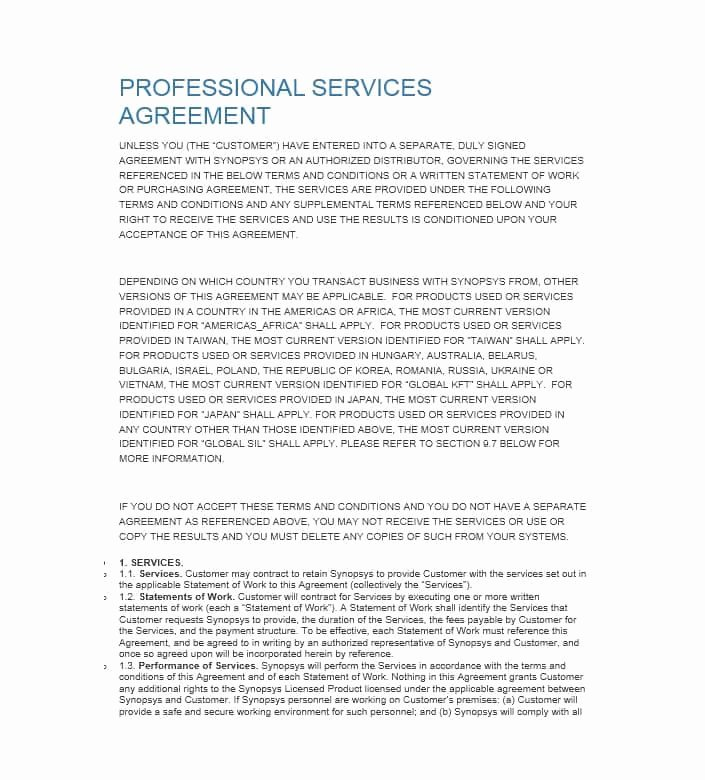 50 Professional Service Agreement Templates & Contracts