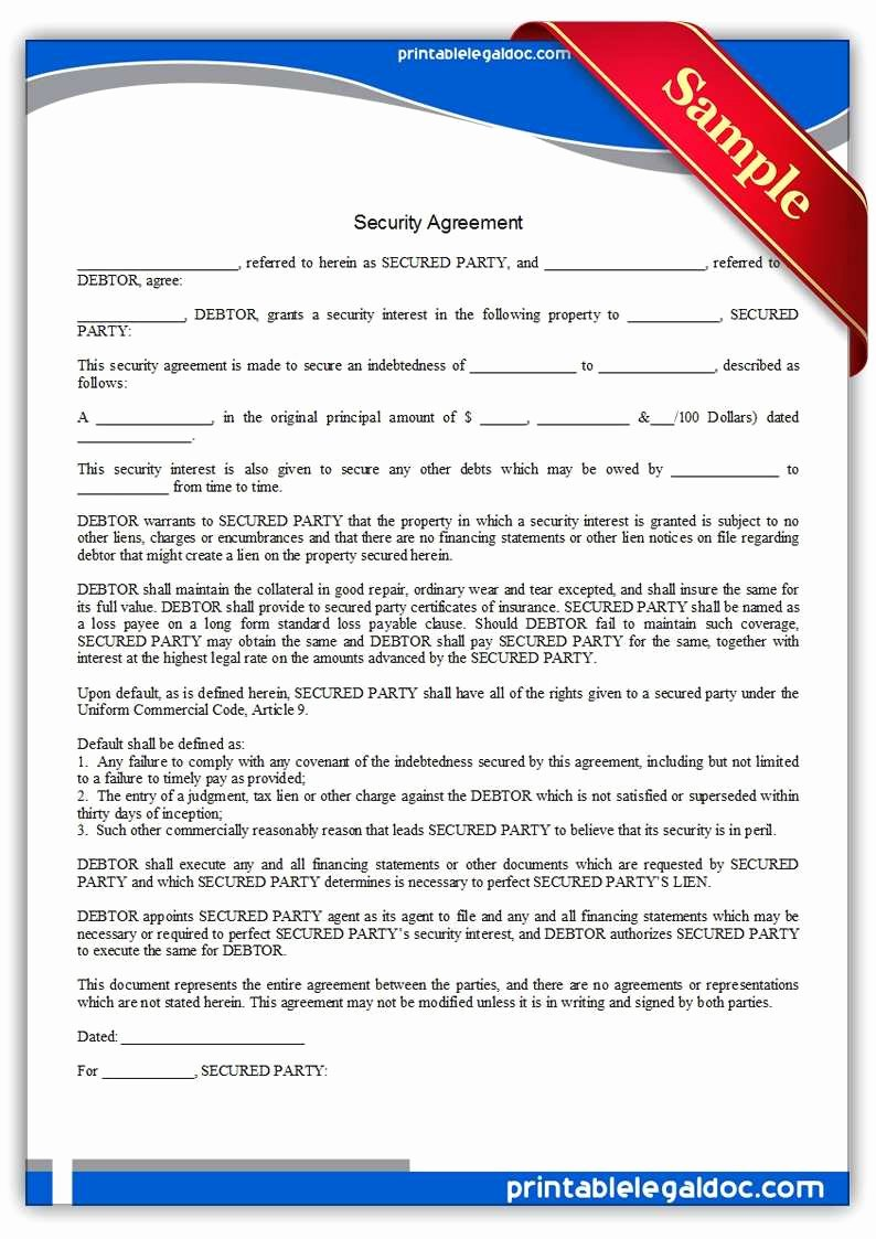 50 Special Security Agreement form Fo V