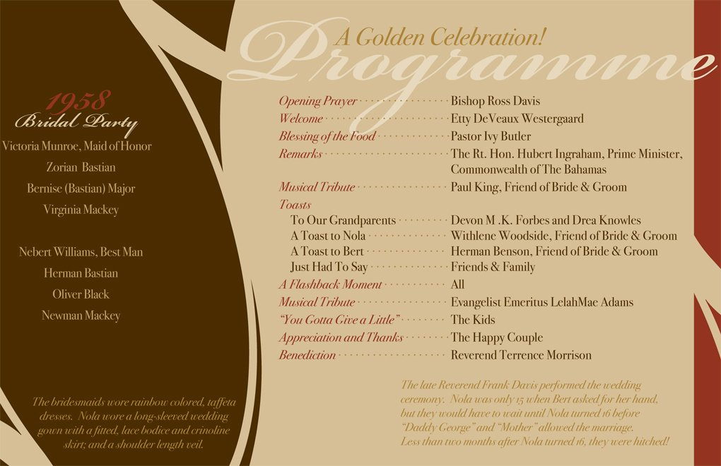 50 Year Church Anniversary Program Layout