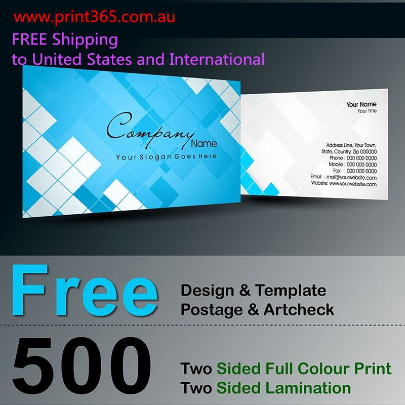 500 Two Sided Business Card Printing 300gsm Free Design
