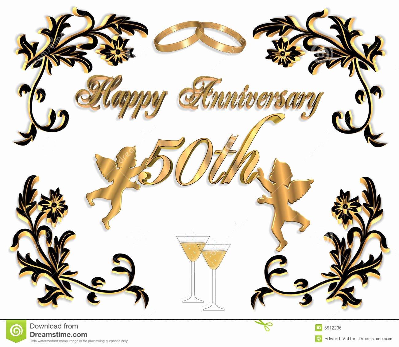50th Anniversary Invitation Templates Free