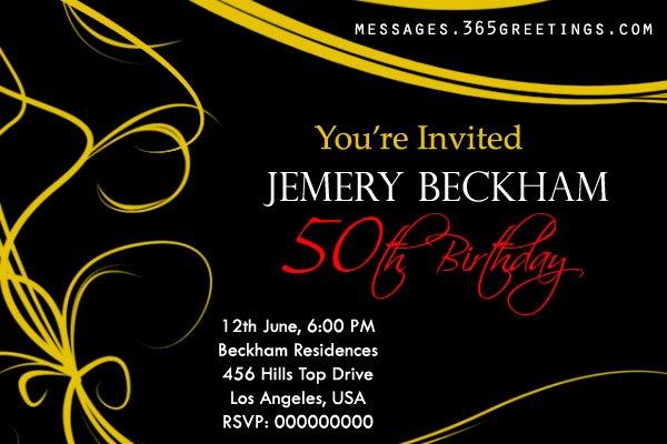 50th Birthday Invitations and 50th Birthday Invitation