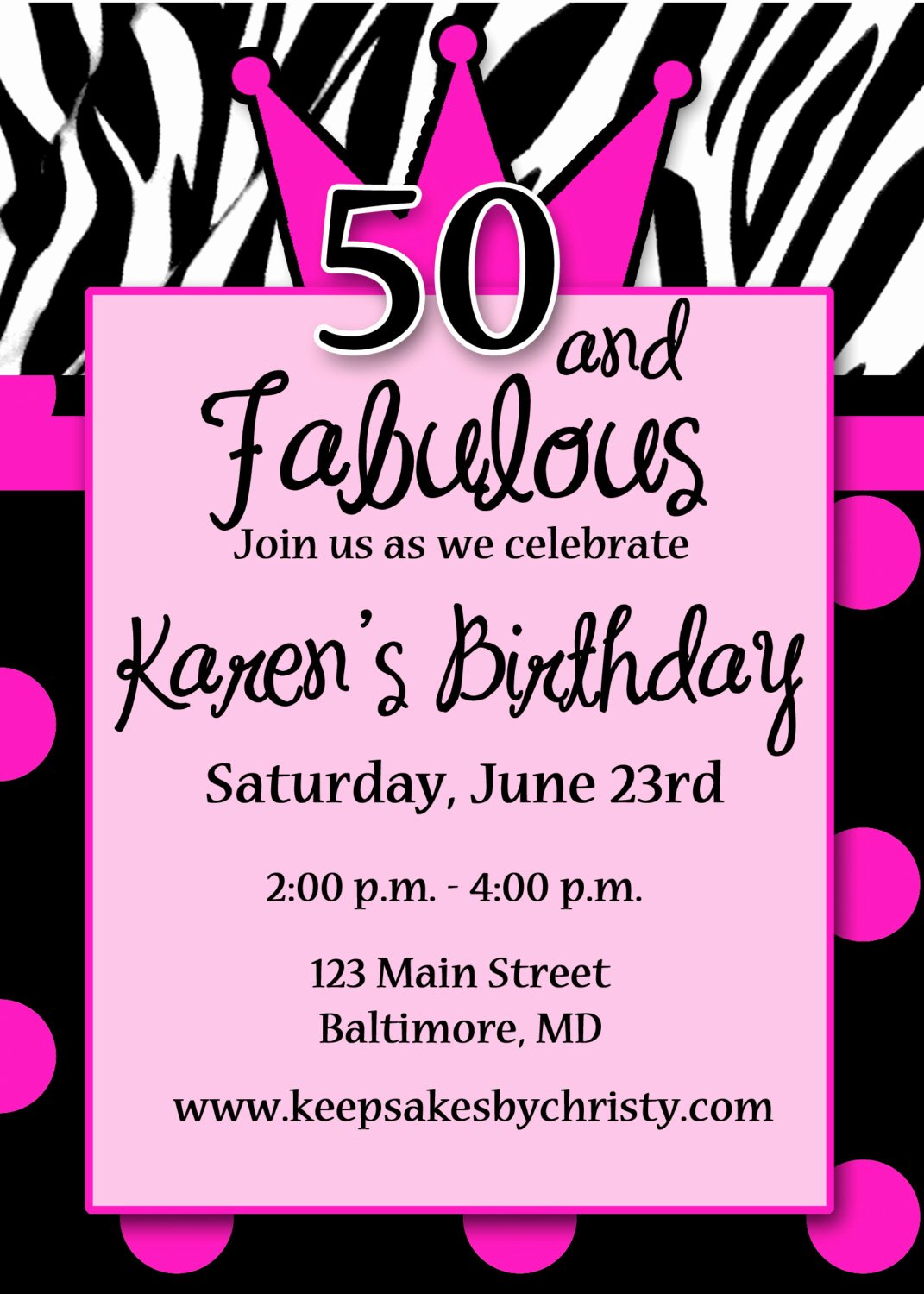 50th Birthday Invite Templates Free