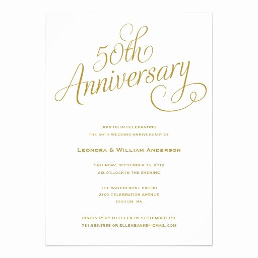 50th Wedding Anniversary Invitation Superdazzle Custom