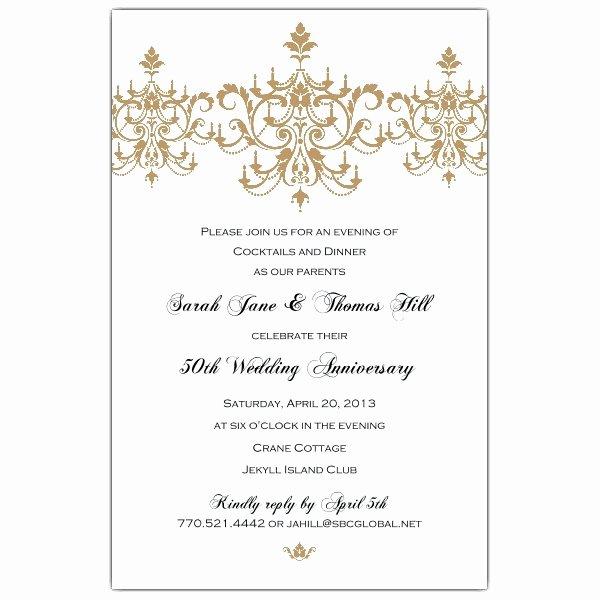 50th Wedding Anniversary Invitation Templates Margusriga