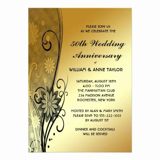 50th Wedding Anniversary Invitations Templates 50th