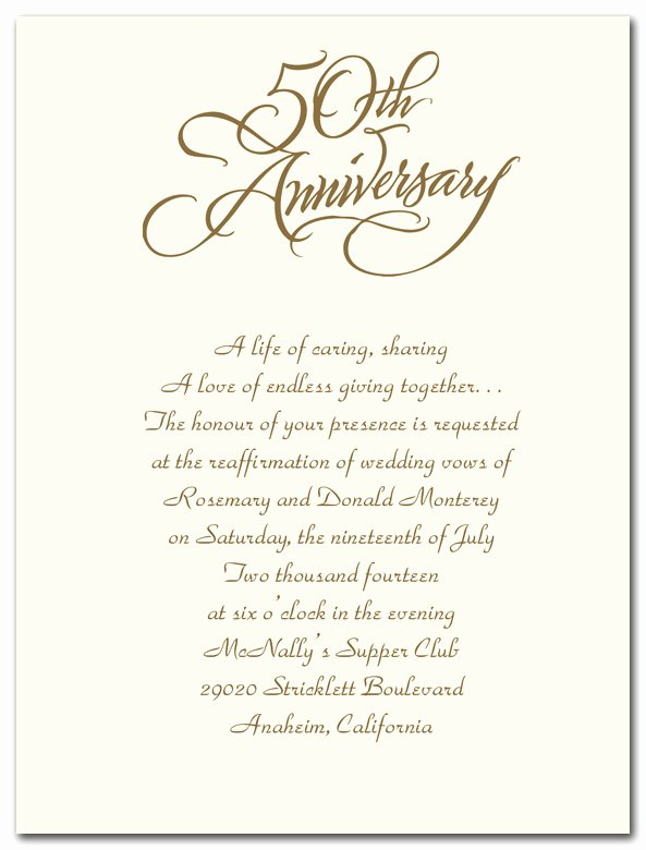 50th Wedding Anniversary Template Word Templates