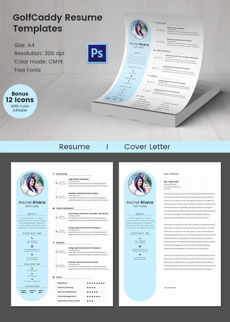 51 Creative Resume Templates – Free Psd Eps format
