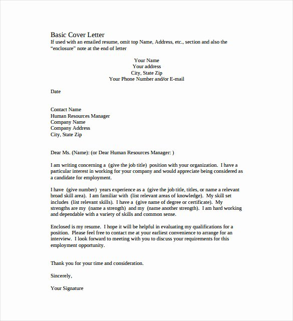 51 Simple Cover Letter Templates Pdf Doc