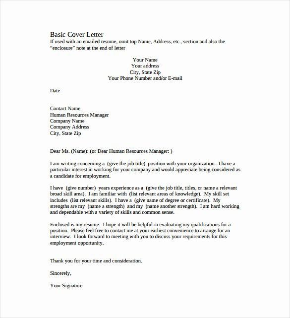 51 Simple Cover Letter Templates Pdf Doc