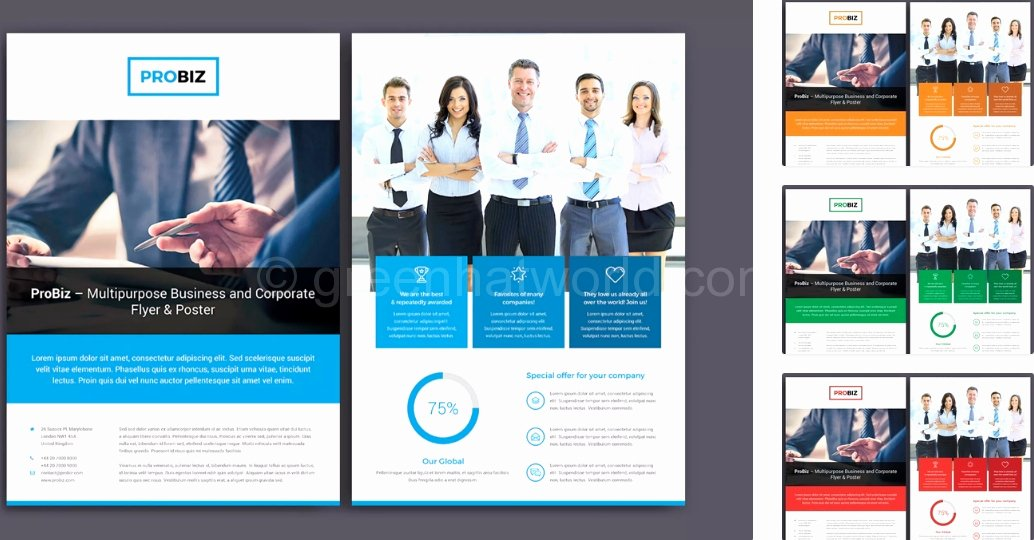 2 sided brochure template