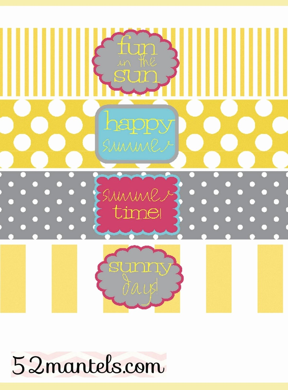 52 Mantels Diy Water Bottle Labels Plus A Free Printable