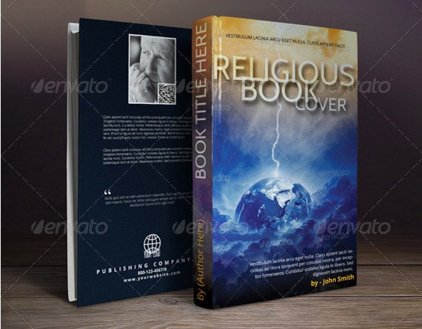 54 Book Cover Design Templates Psd Illustration