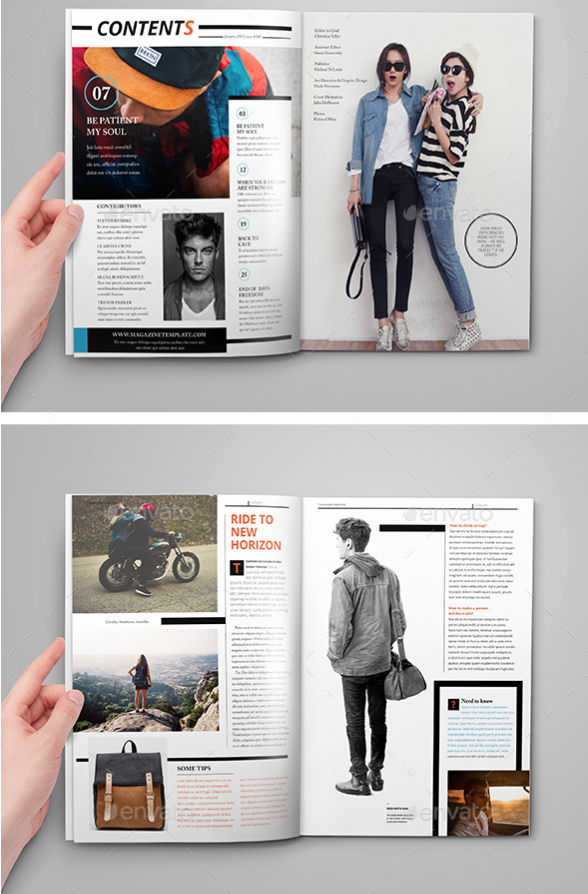 55 Best Magazine Layout Templates Tutorial Zone