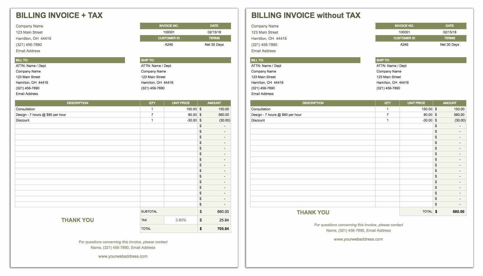 55 Free Invoice Templates
