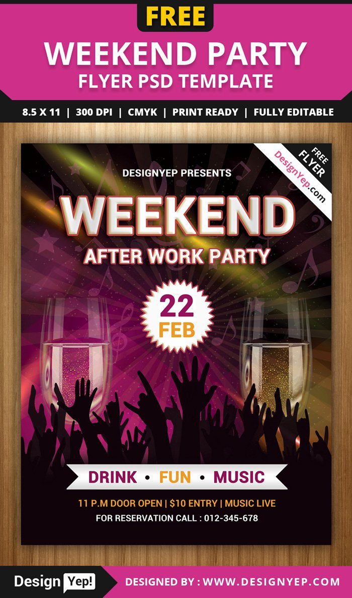 55 Free Party & event Flyer Psd Templates Designyep