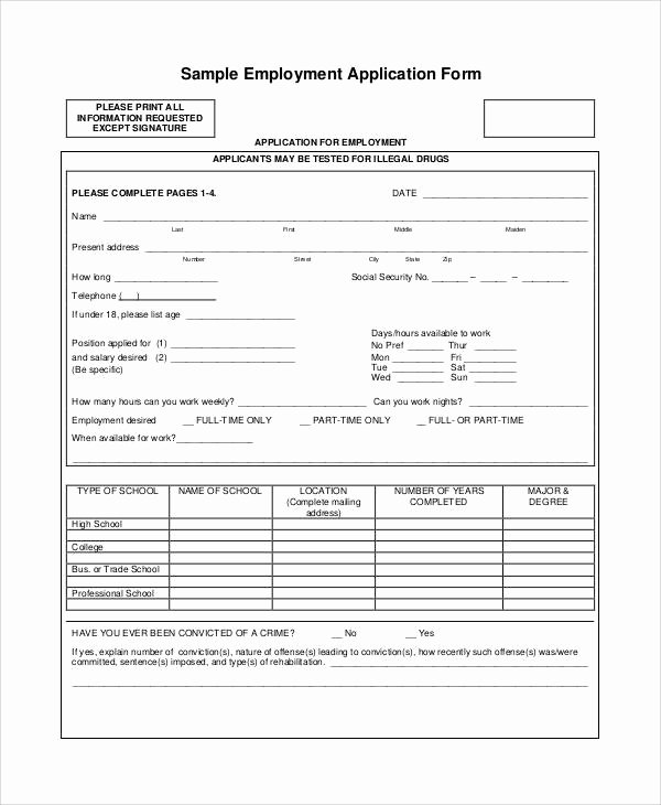 55 Printable Application forms