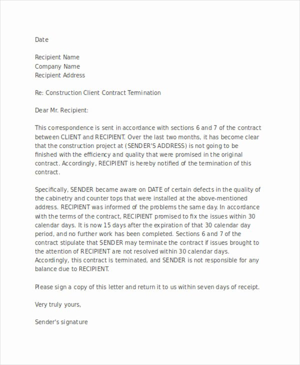 55 Termination Letter Examples & Samples Pdf Doc