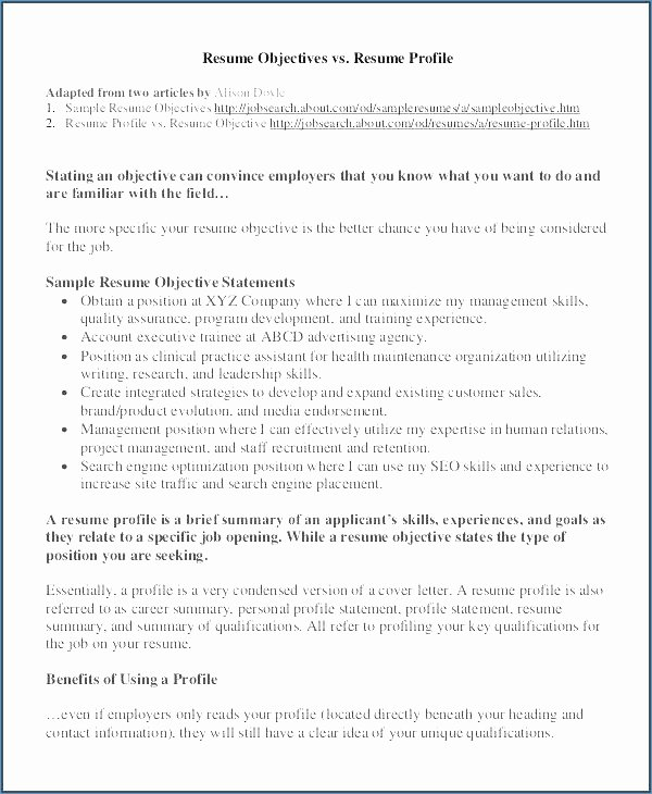 power statements for resume