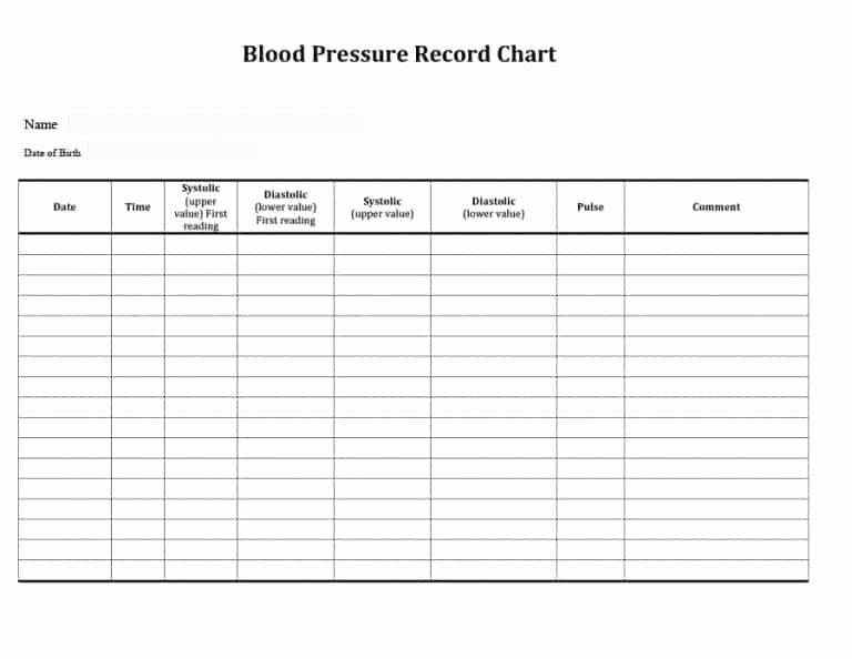 56 Daily Blood Pressure Log Templates [excel Word Pdf]