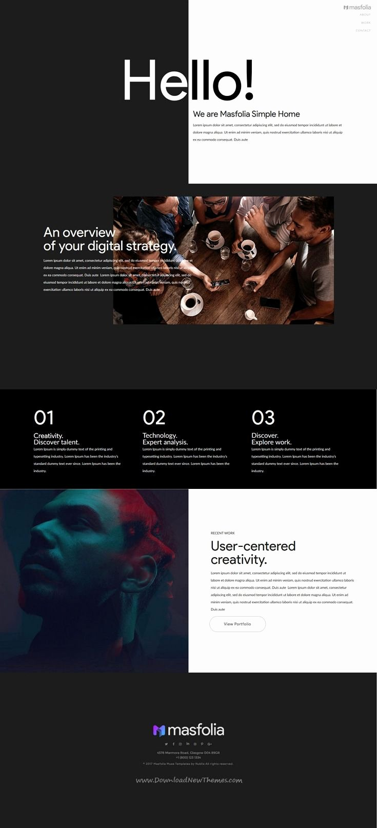 585 Best Best Adobe Muse Template Collection Images On