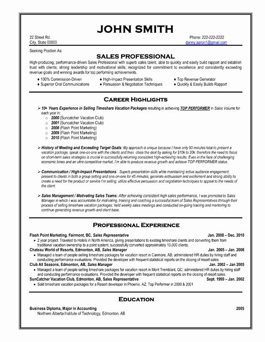 59 Best Best Sales Resume Templates & Samples Images On