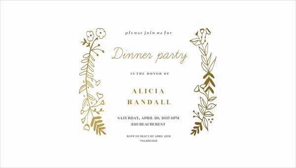 59 Dinner Invitation Designs Psd Ai