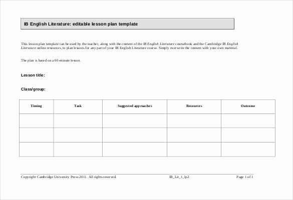 59 Lesson Plan Templates Pdf Doc Excel