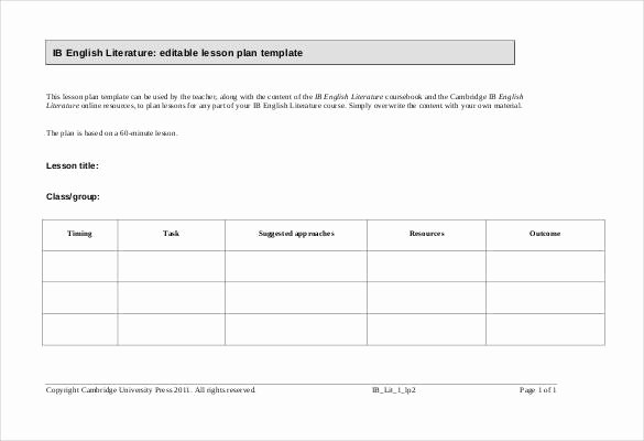 59 Lesson Plan Templates Pdf Doc Excel