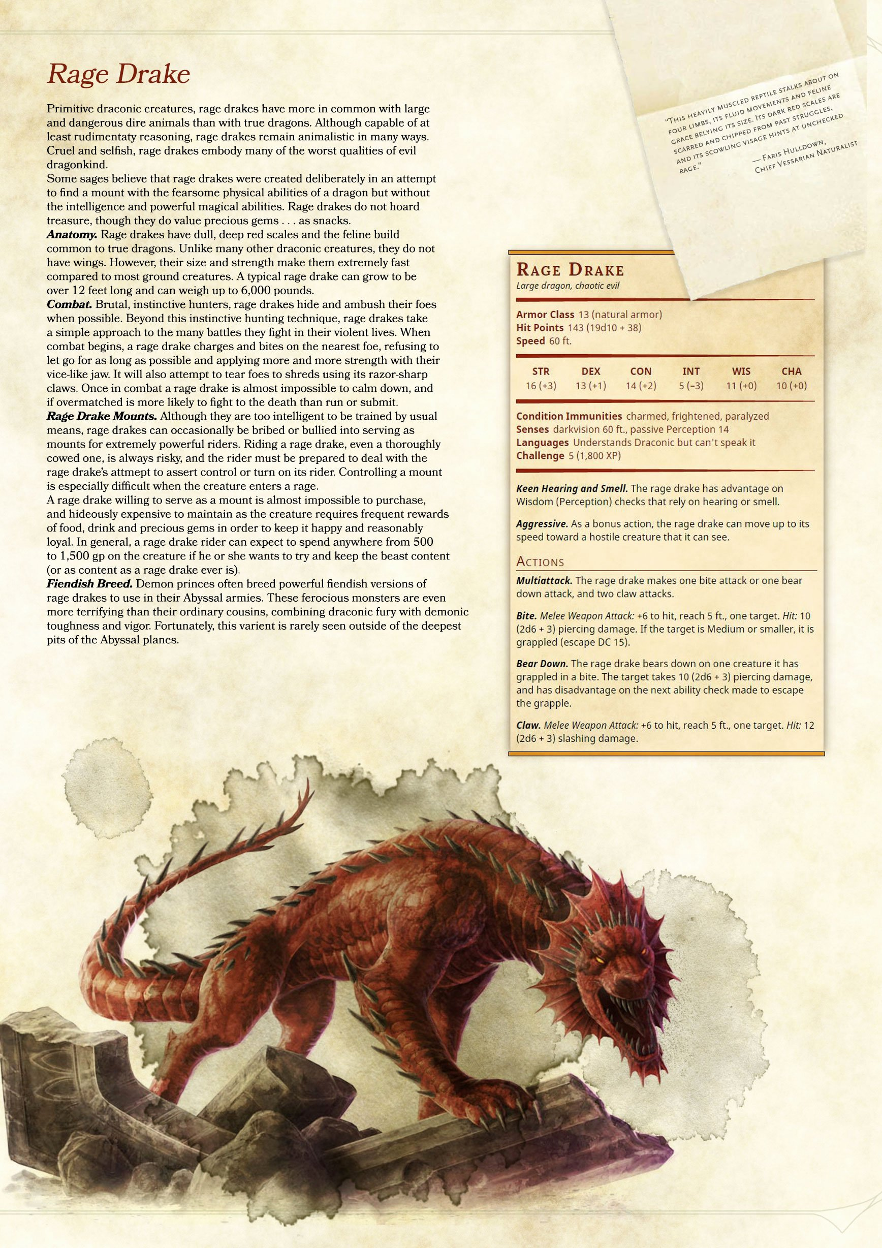 [5e] Tried to Recreate the Monster Manual S Style when