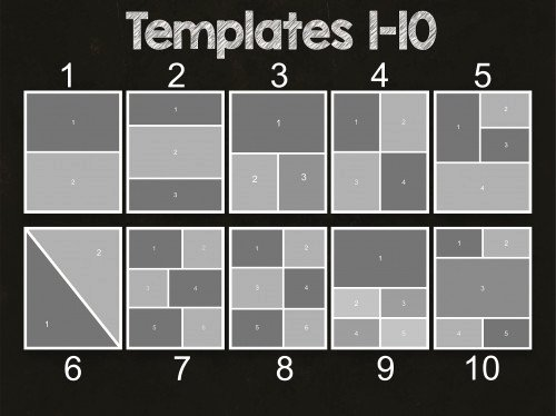 5x7 Collage Template Pack 25 Psd Templates