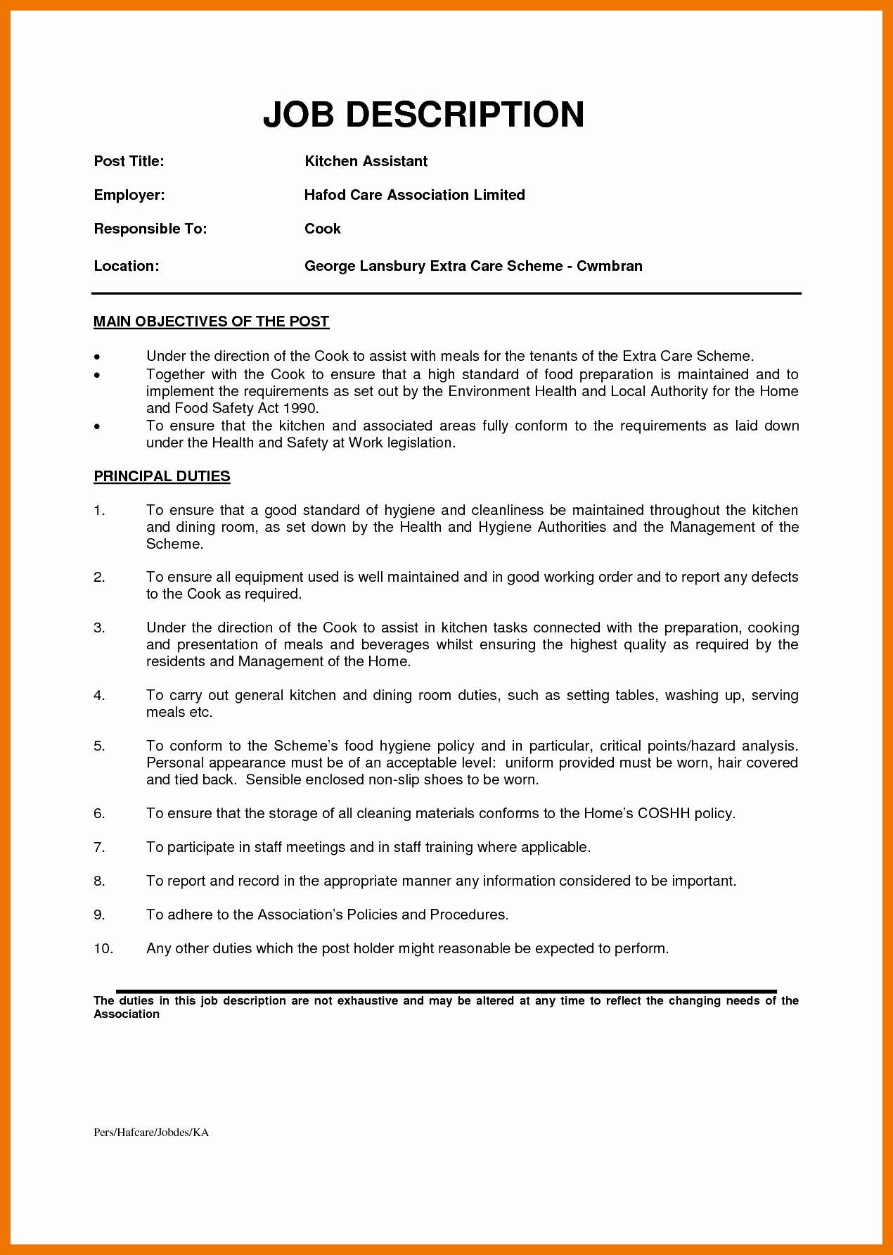 6 7 Dishwasher Resume Description