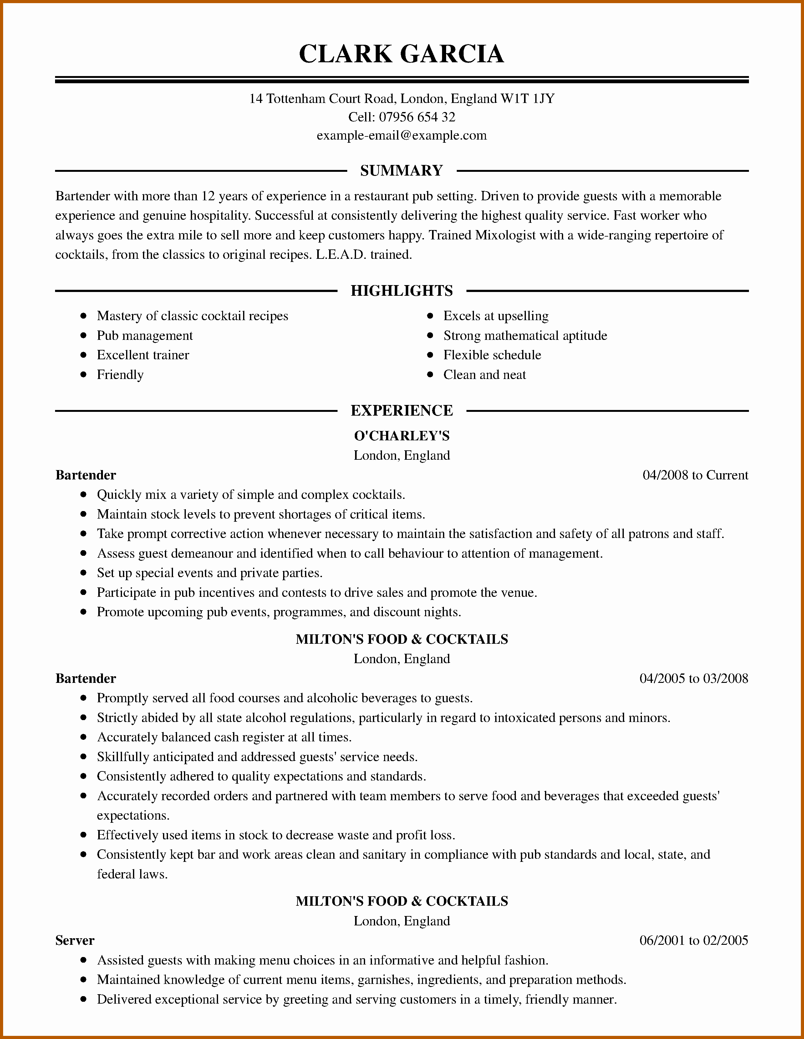 6 7 Resumes that You Hired Samples
