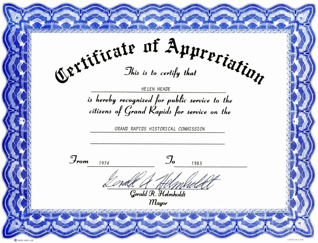 6 Appreciation Certificate Templates