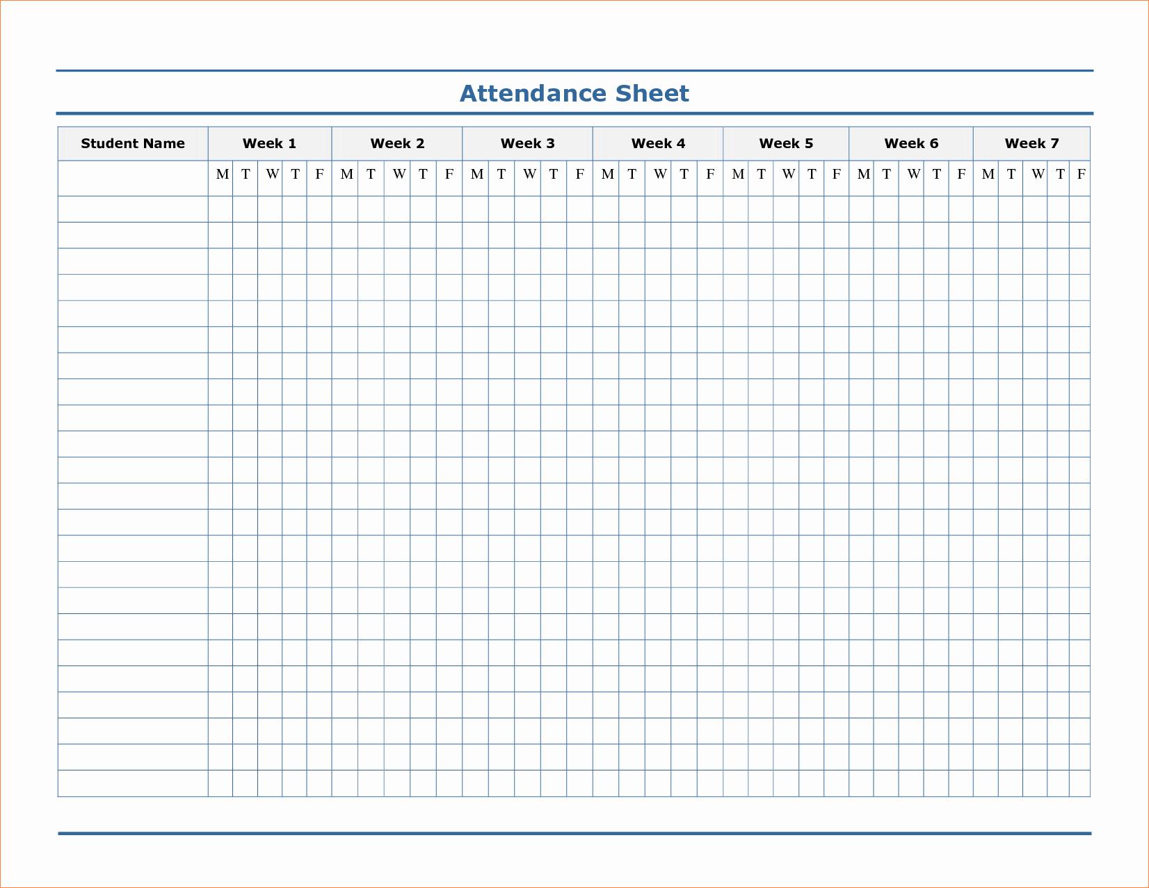 6 attendance Sheet Template