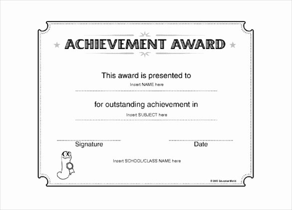 6 Award Templates Doc Pdf