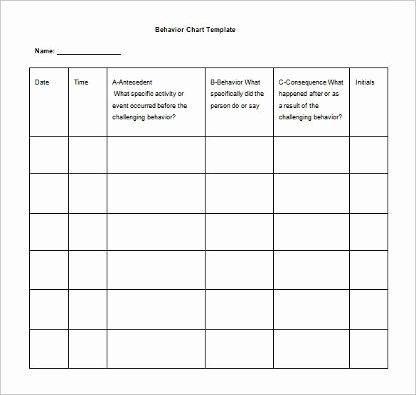 behavior chart template