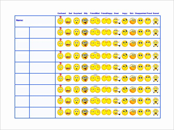 6 Behavior Chart Templates Pdf Doc