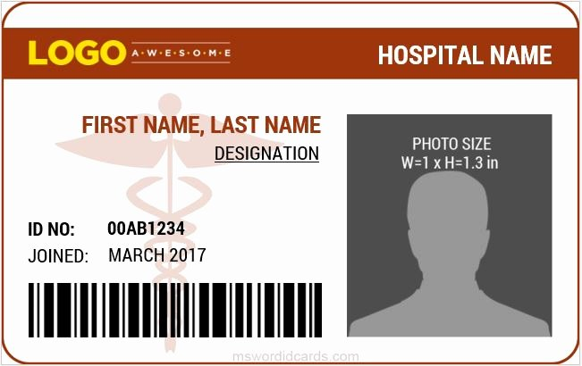 6 Best Medical Staff Id Card Templates Ms Word
