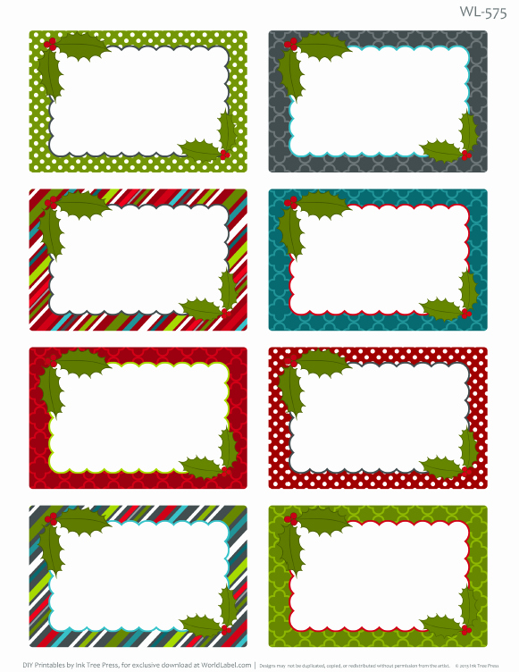 6 Best Of Blank Printable Christmas Gift Tags