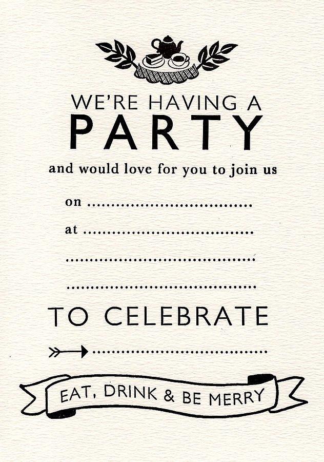 6 Best Of Blank Printable Tea Party Invitations