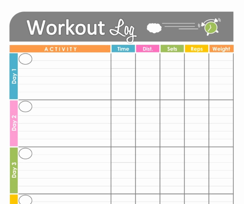 6 Best Of Blank Printable Workout Calendar Template
