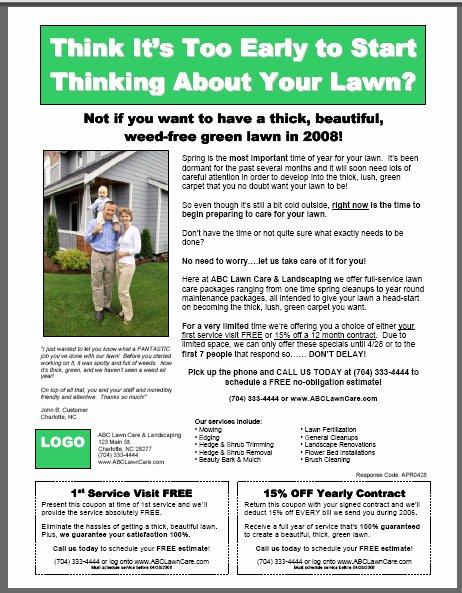 6 Best Of Brochure Templates Lawn Care Services