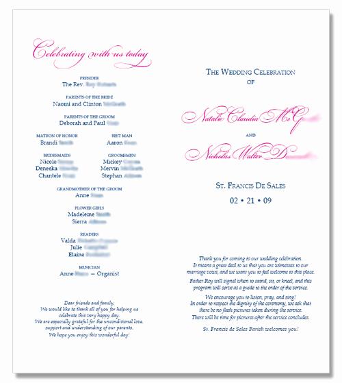 6 Best Of Catholic Wedding Program Template