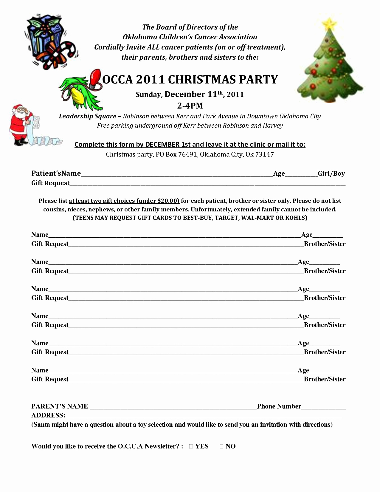 6 Best Of Christmas Party Printable Sign Up Sheet