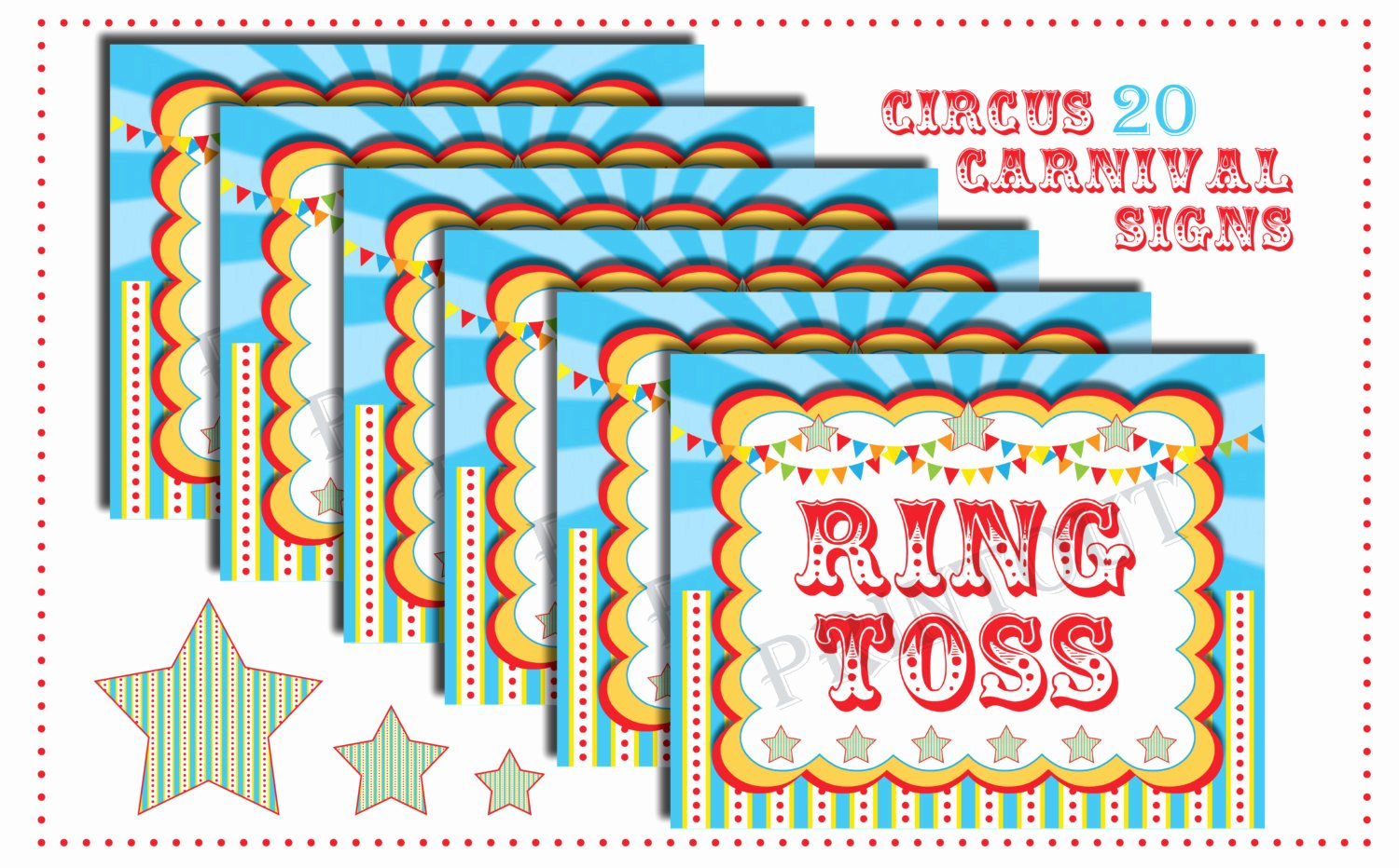 6 Best Of Circus Carnival Printable Signs Free